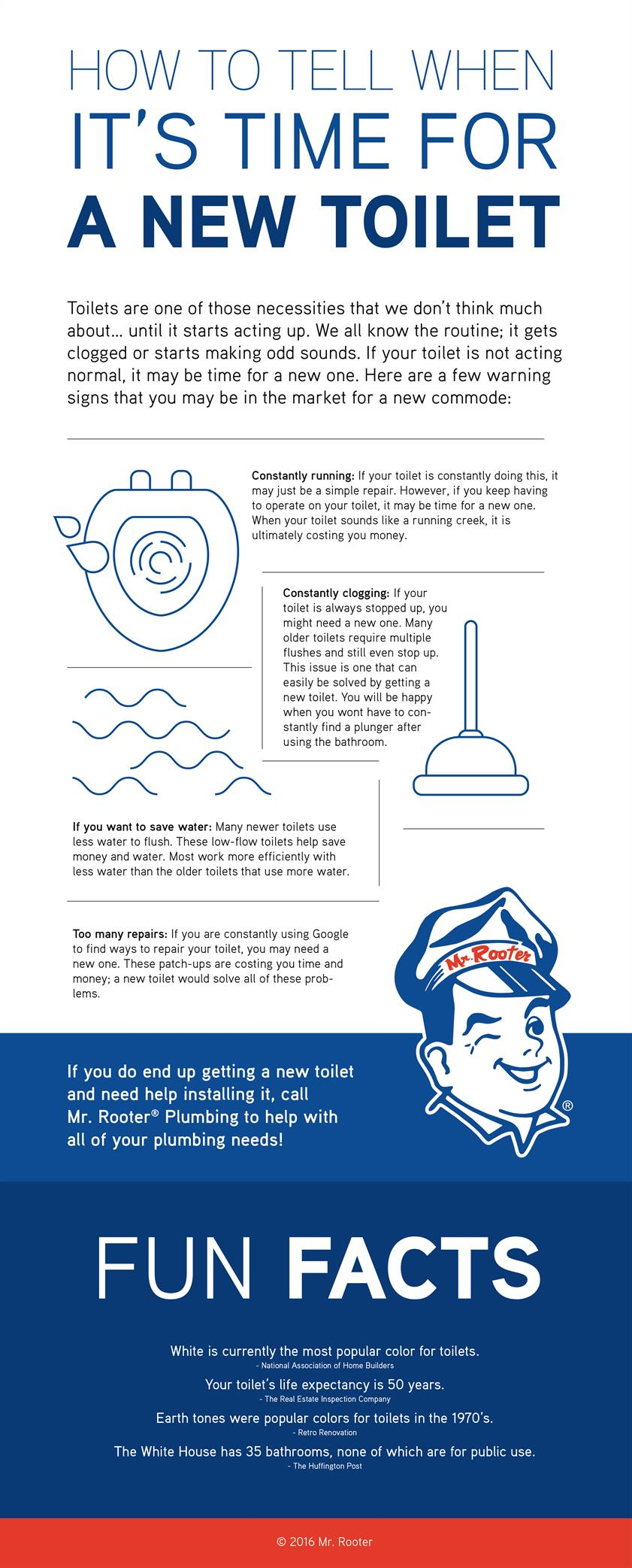How To Tell When It's Time For A New Toilet Infographic