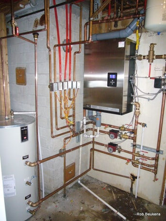Boiler installation by Mr. Rooter