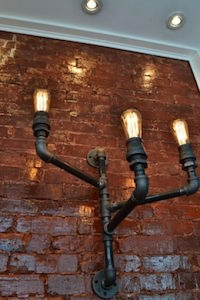 plumbing pipe light fixture