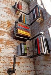 steel plumbers pipe bookshelf