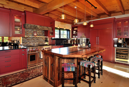 Bold Rustic Kitchen