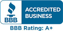 BBB logo with A plus rating